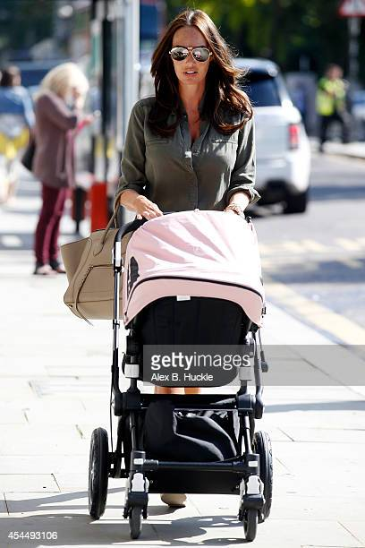Tamara Ecclestone seen shopping in Notting Hill with daughter Sophia on September 2 2014 in London England Photo by Alex Huckle/GC Images