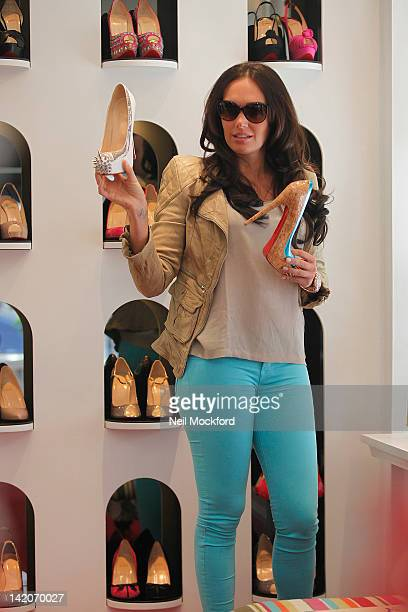 Tamara Ecclestone shops for shoes at Christian Louboutin in Knightsbridge on March 29 2012 in London England