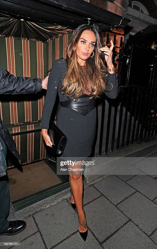 Tamara Ecclestone sighting at Annabels on February 26, 2013 in London, England.