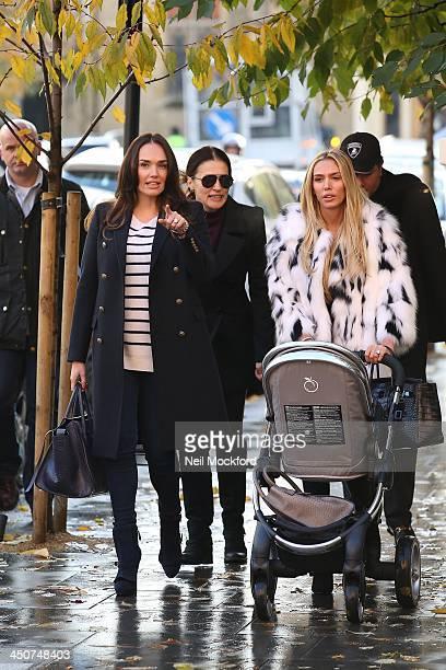 Tamara Ecclestone Slavica Ecclestone and Petra Ecclestone seen walking to Harrods on November 20 2013 in London England