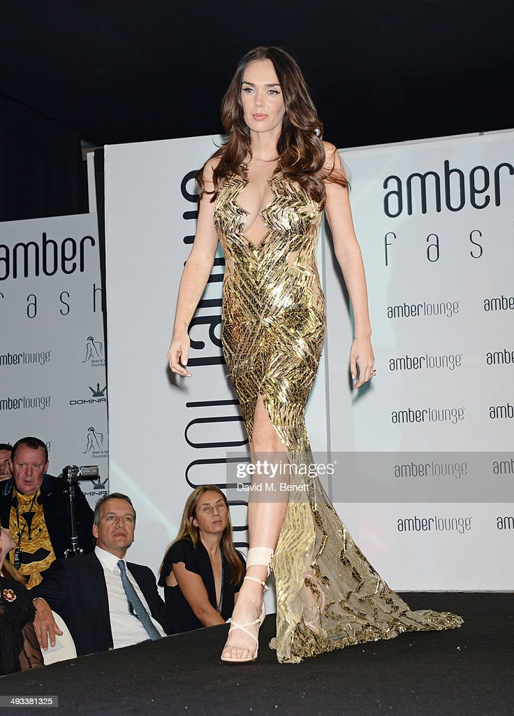 <a gi-track='captionPersonalityLinkClicked' href=/galleries/search?phrase=Tamara+Ecclestone&family=editorial&specificpeople=575176 ng-click='$event.stopPropagation()'>Tamara Ecclestone</a> walks the runway at the Amber Lounge 2014 Gala at Le Meridien Beach Plaza Hotel on May 23, 2014 in Monaco, Monaco.