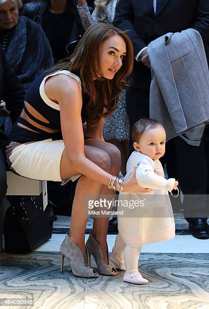 Tamara Ecclestone with baby Sophia attend the Julien Macdonald show during London Fashion Week Fall/Winter 2015/16 on February 21 2015 in London...