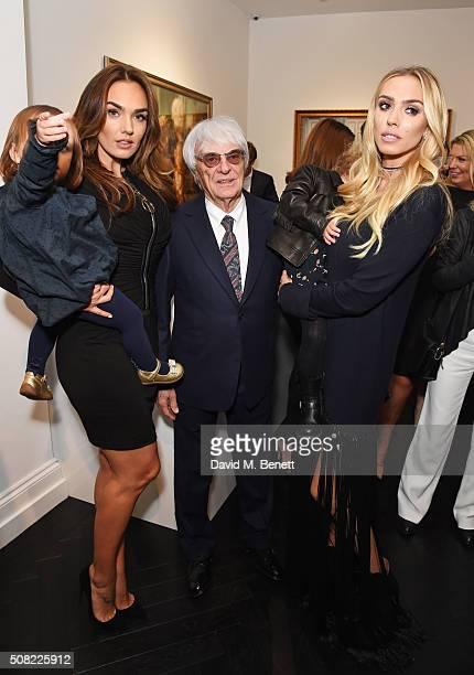 Tamara Ecclestone with daughter Sophia EcclestoneRutland father Bernie Ecclestone and Petra Stunt with daughter Lavinia Stunt pose at a private view...
