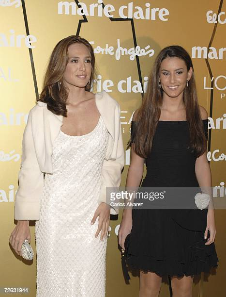 Tamara Falco and Ana Boyer attend the Marie Clare Awards at the French Embassy November 22 2006 in Madrid Spain