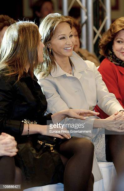Tamara Falco and Isabel Preysler attend Marta Rota fashion show at Palace hotel on March 8 2011 in Madrid Spain