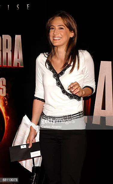 Tamara Falco arrives at the Spanish premiere for 'War of the Worlds' at the Palacio de la Musica cinema on June 21 2005 in Madrid Spain