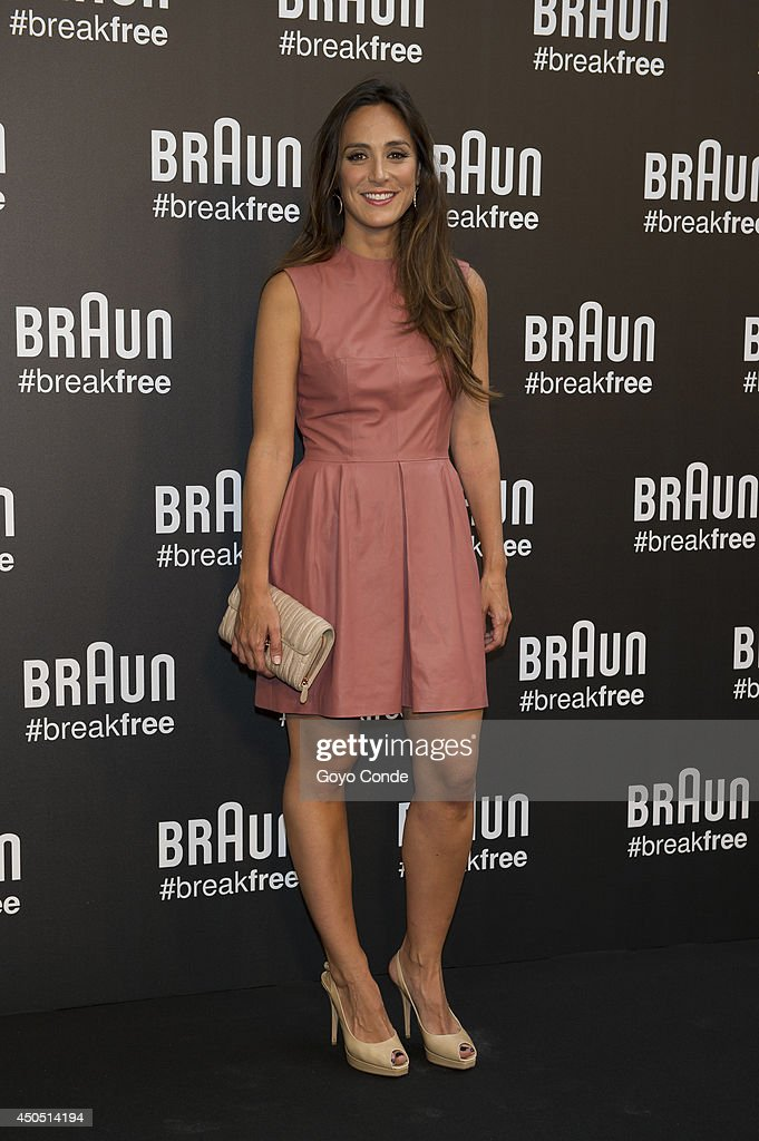 Tamara Falco attends a photocall at the Braun Summer Party on June 12 2014 in Madrid Spain