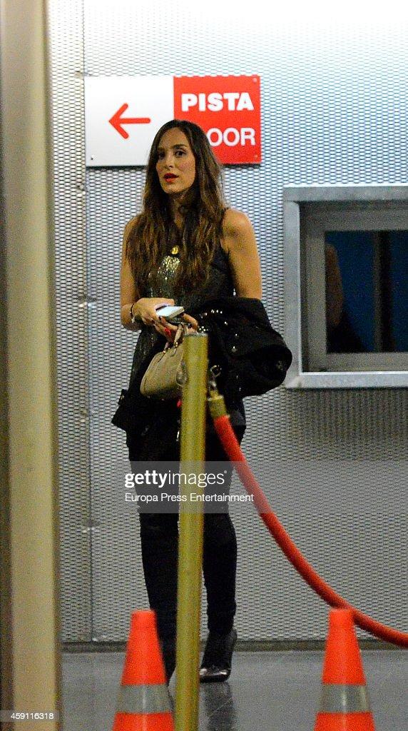 Tamara Falco attends Enrique Iglesias concert on November 15 2014 in Madrid Spain