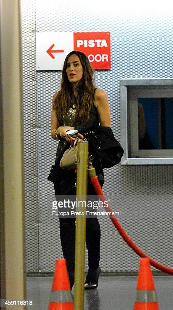 Tamara Falco attends Enrique Iglesias concert on November 15 2014 in Madrid Spain
