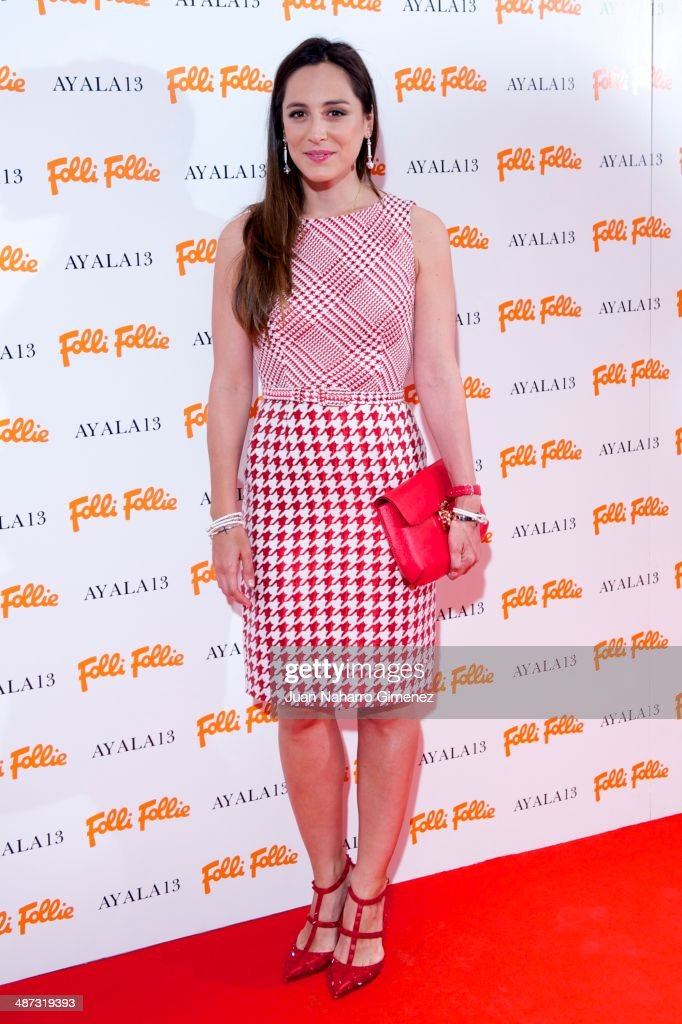Tamara Falco attends Folli Follie flagship store inauguration at Folli Fillie on April 29 2014 in Madrid Spain