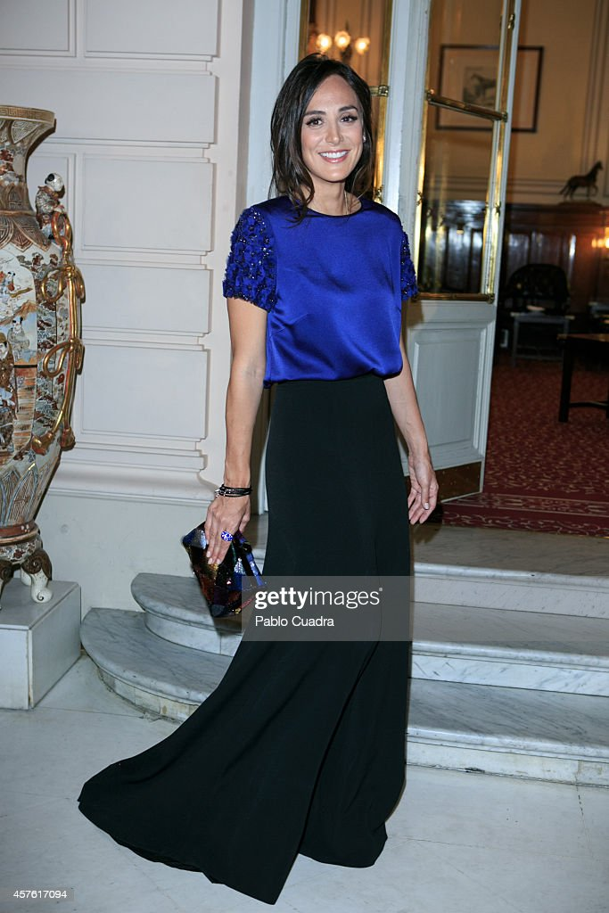 Tamara Falco attends 'Folli Follie' new charity collection presentation on October 21 2014 in Madrid Spain