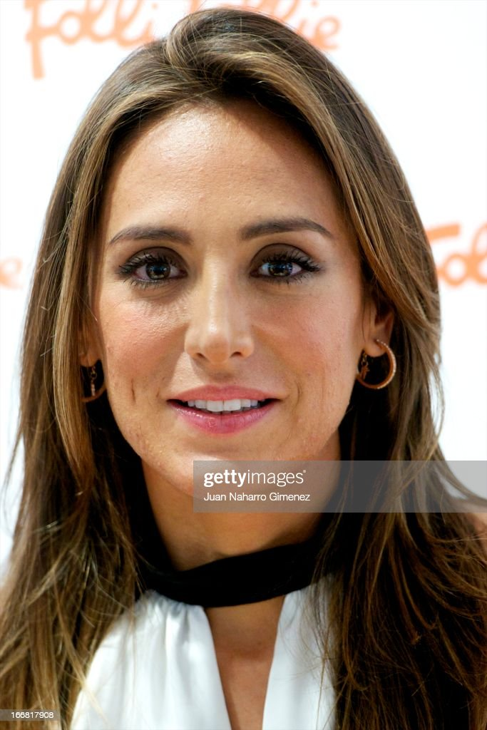 Tamara Falco attends Folli Follie photocall at Folli Follie store on April 17, 2013 in Madrid, Spain.