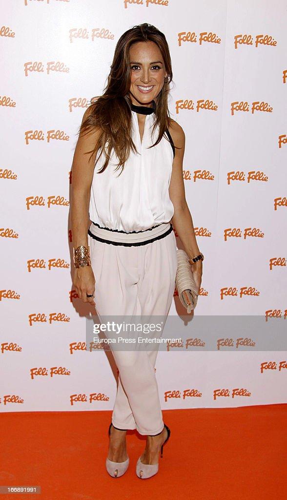 Tamara Falco attends Folli Follie photocall on April 17 2013 in Madrid Spain