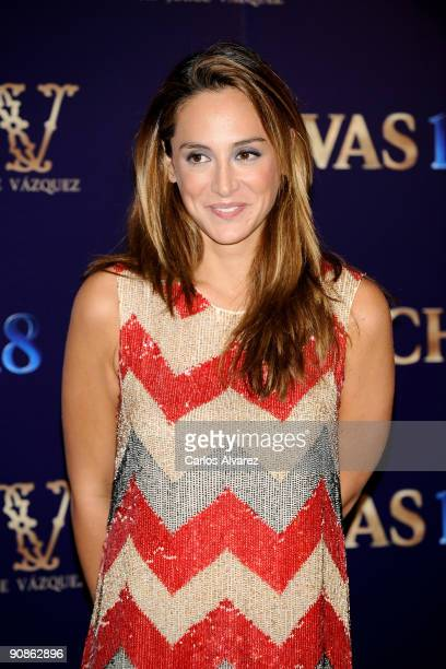 Tamara Falco attends Jorge Vazquez 2010 S/S Collection Presentation at Santo Mauro Hotel on September 16 2009 in Madrid Spain