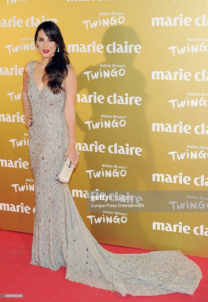 Tamara Falco attends 'Marie Claire Prix de la moda' awards 2014 photocall at Residence of France on November 19 2014 in Madrid Spain