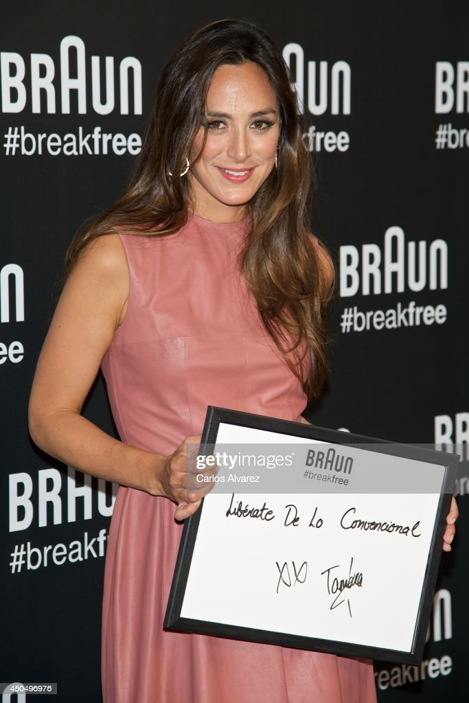 Tamara Falco attends the Braun Breakfree summer party at the Fortuny Palace on June 12 2014 in Madrid Spain