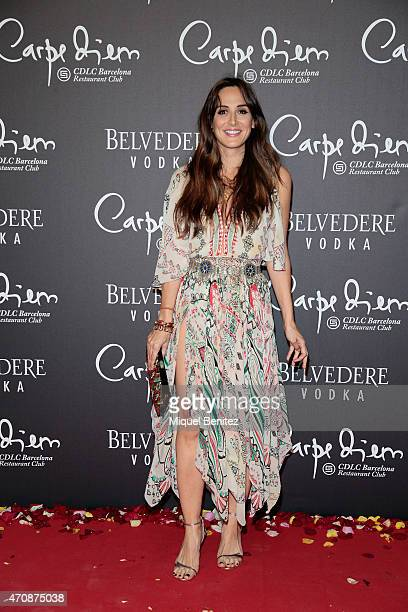Tamara Falco attends the 'Flower Power' party at the Carpe Diem club on April 23 2015 in Barcelona Spain