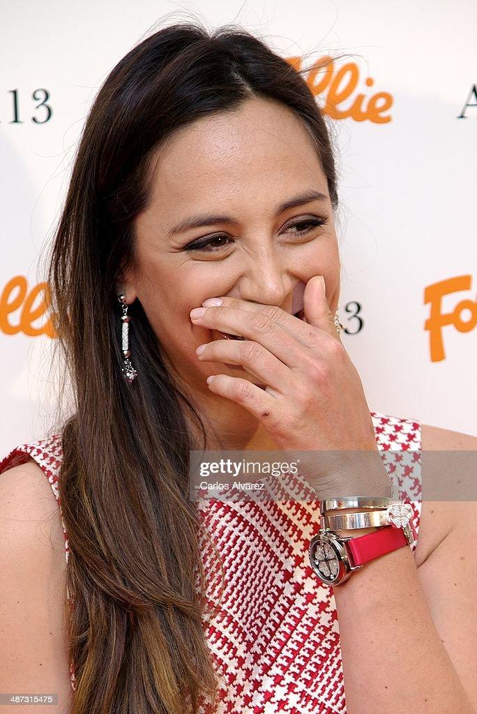 Tamara Falco attends the Folli Follie Flagship Store inauguration on April 29 2014 in Madrid Spain