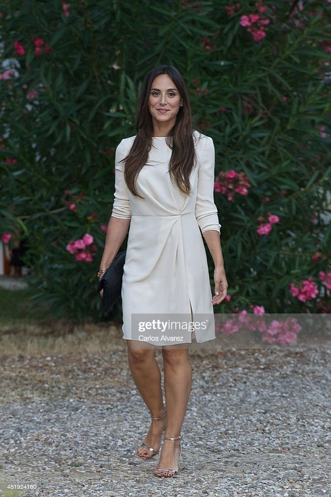 Tamara Falco attends the Folli Follie summer party at the Greek Embassy on July 9 2014 in Madrid Spain