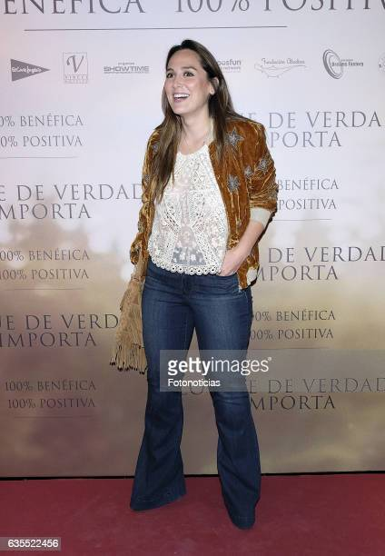 Tamara Falco attends the 'Lo Que De Verdad Importa' premiere at the Hotel Vincci Capitol on February 15 2017 in Madrid Spain