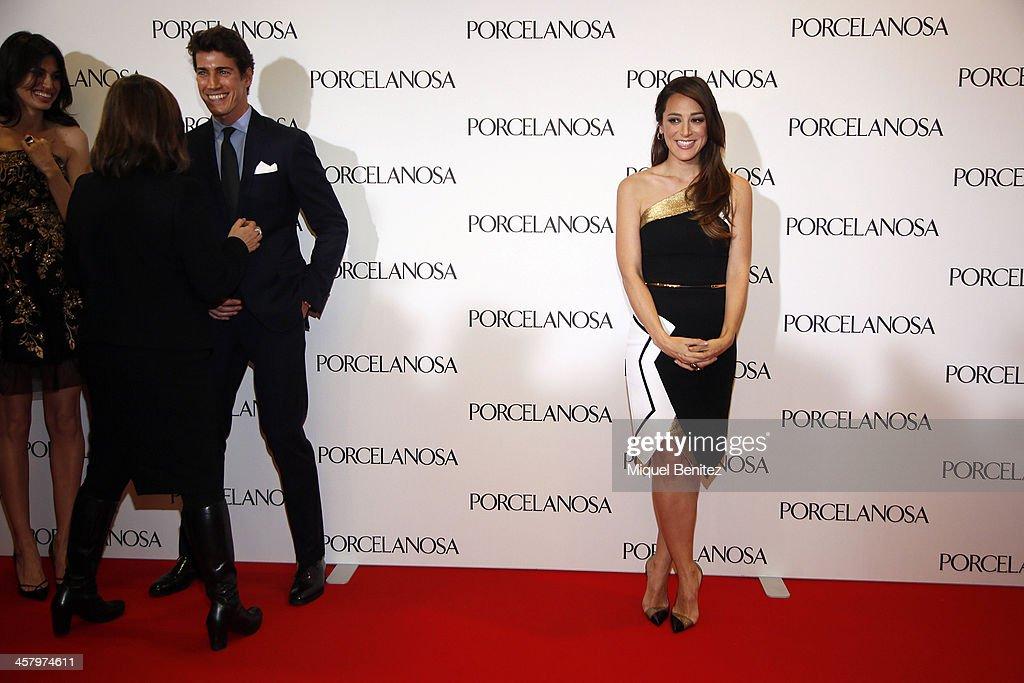 <a gi-track='captionPersonalityLinkClicked' href=/galleries/search?phrase=Tamara+Falco&family=editorial&specificpeople=2342427 ng-click='$event.stopPropagation()'>Tamara Falco</a> (R) attends the Re Opening of a Porcelanosa store on December 19, 2013 in L'Hospitalet, Barcelona, Spain.