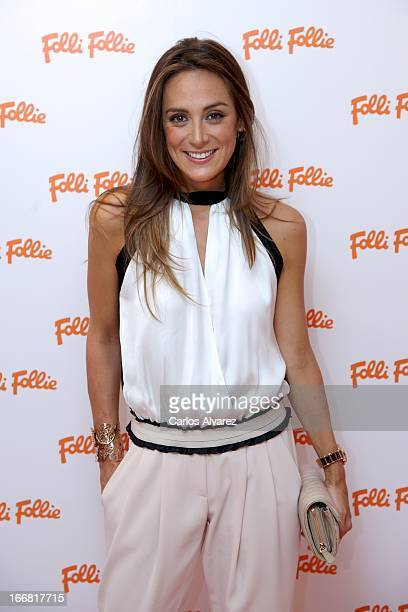 Tamara Falco is presented as the new face of Folli Follie at the Folli Follie store on April 17 2013 in Madrid Spain