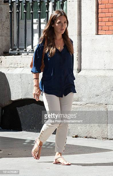 Tamara Falco is seen going for shopping on September 6 2012 in Madrid Spain