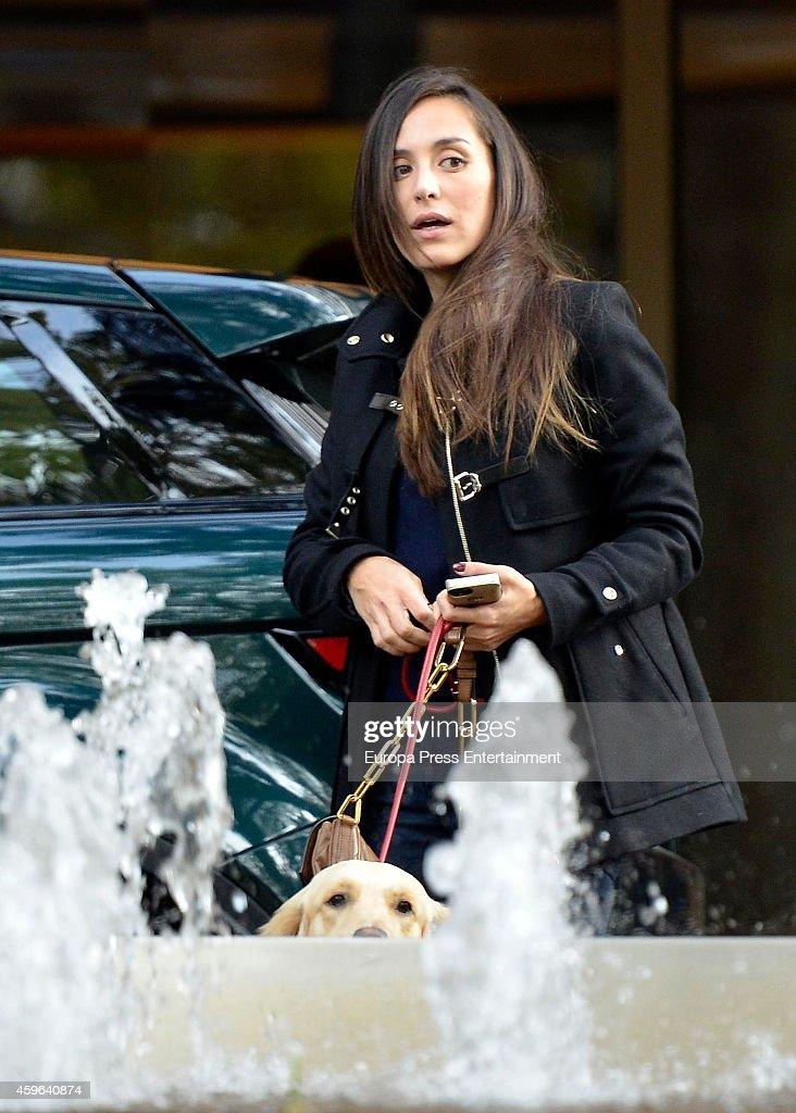 Tamara Falco is seen leaving hotel on November 16 2014 in Madrid Spain
