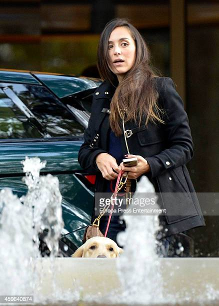 Tamara Falco is seen leaving hotel on November 16 2014 in Madrid Spain