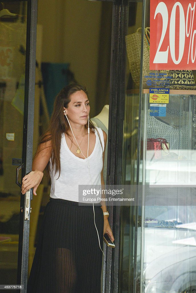 Tamara Falco is seen on August 05 2014 in Madrid Spain
