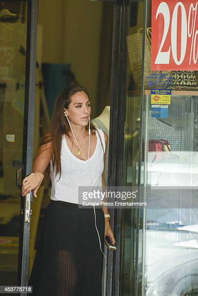 Tamara Falco is seen on August 05 2014 in Madrid Spain
