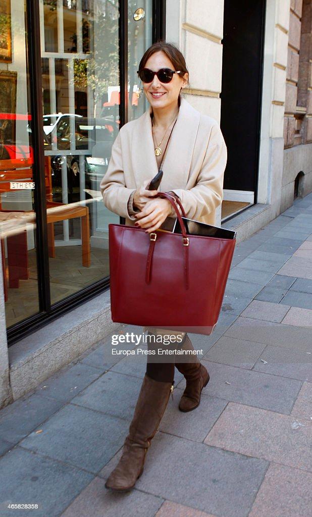 Tamara Falco Sighting In Madrid - February 19, 2015