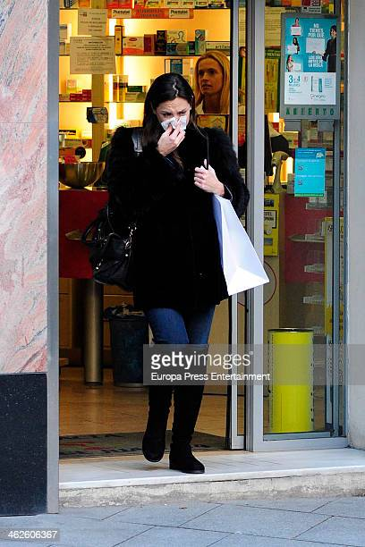 Tamara Falco is seen on January 13 2014 in Madrid Spain