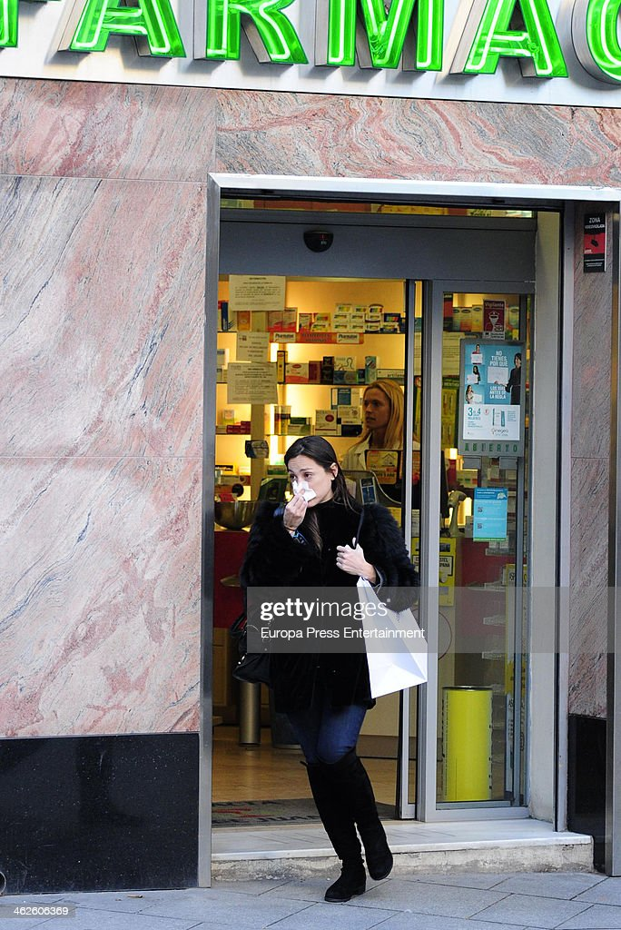 Tamara Falco is seen on January 13 2014 in Madrid Spain