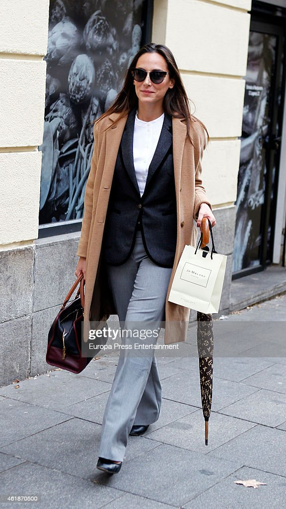 Tamara Falco is seen on January 20 2015 in Madrid Spain