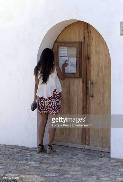 Tamara Falco is seen on July 21 2014 in Ibiza Spain