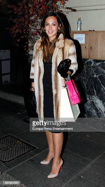 Tamara Falco is seen on November 21 2012 in Madrid Spain