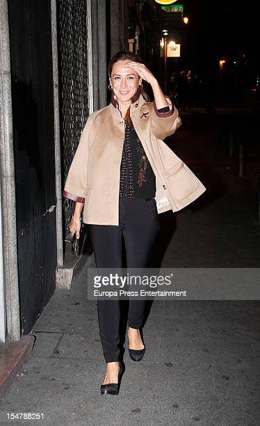 Tamara Falco is seen on October 25 2012 in Madrid Spain