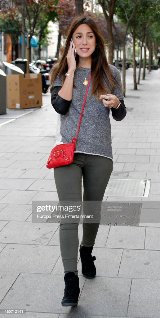 Tamara Falco is seen on October 8 2013 in Madrid Spain