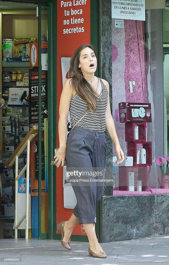 Tamara Falco is seen on September 3 2014 in Madrid Spain