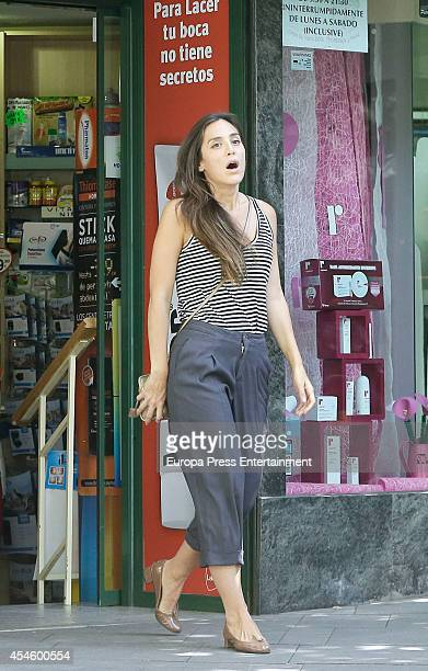 Tamara Falco is seen on September 3 2014 in Madrid Spain