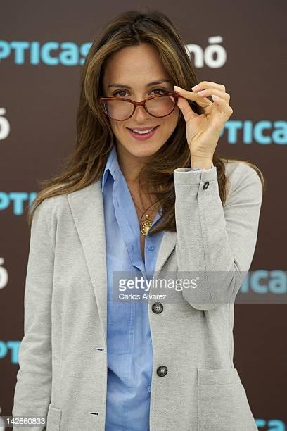 Tamara Falco presents new Multiopticas Glasses Collection at Parra Romero Galery on April 11 2012 in Madrid Spain