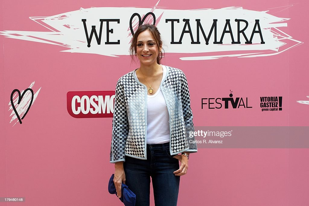 <a gi-track='captionPersonalityLinkClicked' href=/galleries/search?phrase=Tamara+Falco&family=editorial&specificpeople=2342427 ng-click='$event.stopPropagation()'>Tamara Falco</a> presents the 'We Love Tamara' new television show during the day three of 5th FesTVal Television Festival 2013 at the Villa Suso Palace on September 4, 2013 in Vitoria-Gasteiz, Spain.