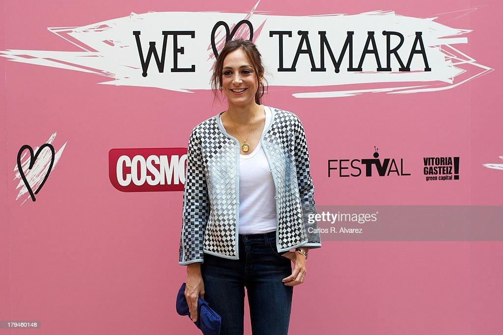 Tamara Falco presents the 'We Love Tamara' new television show during the day three of 5th FesTVal Television Festival 2013 at the Villa Suso Palace...