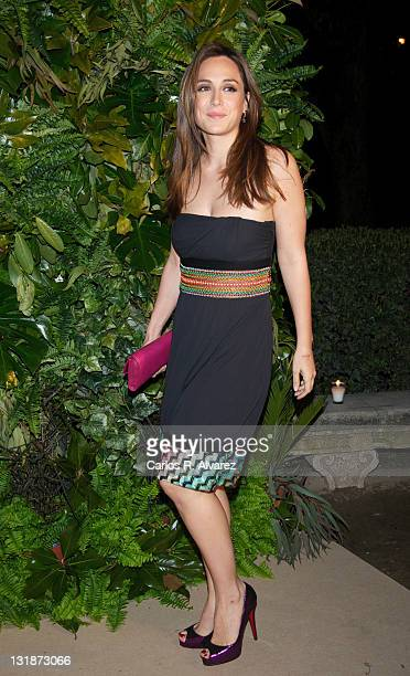 Tamara Falco Preysler attends Loewe new collection party at 'Jardin Botanico' on March 30 2011 in Madrid Spain