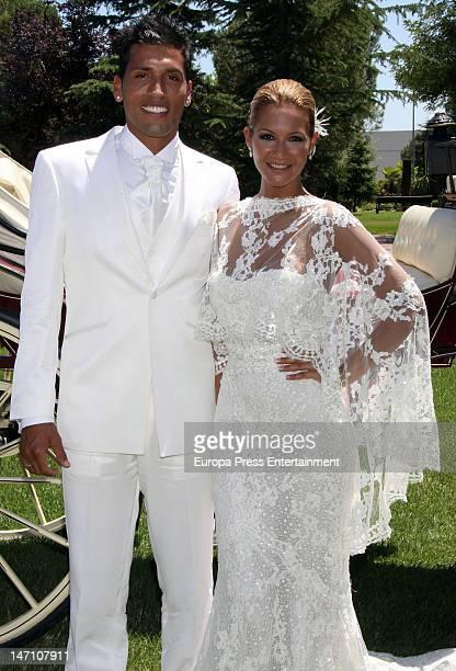 Tamara Gorro and Ezequiel Garay get married on June 24 2012 in Alcala de Henares Spain