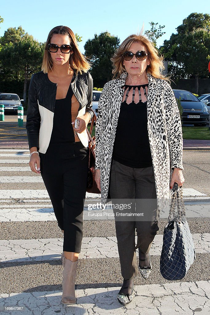 Tamara Gorro (L) and <a gi-track='captionPersonalityLinkClicked' href=/galleries/search?phrase=Mila+Ximenez&family=editorial&specificpeople=7400354 ng-click='$event.stopPropagation()'>Mila Ximenez</a> visit the chapel of rest for Mario Biondo at Tanatorio Parcesa on May 31, 2013 in Madrid, Spain. Spanish television presenter Raquel Sanchez Silva found her 36 year-old-husband, Italian cameraman Mario Biondo, dead at their home after returning from work on May 30.