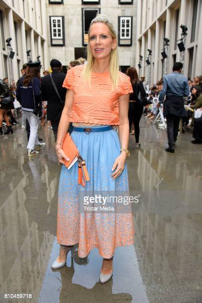 Tamara Graefin von Nayhauss attends the Marina Hoermanseder show during the Berliner Mode Salon Spring/Summer 2018 at Kronprinzenpalais on July 7...