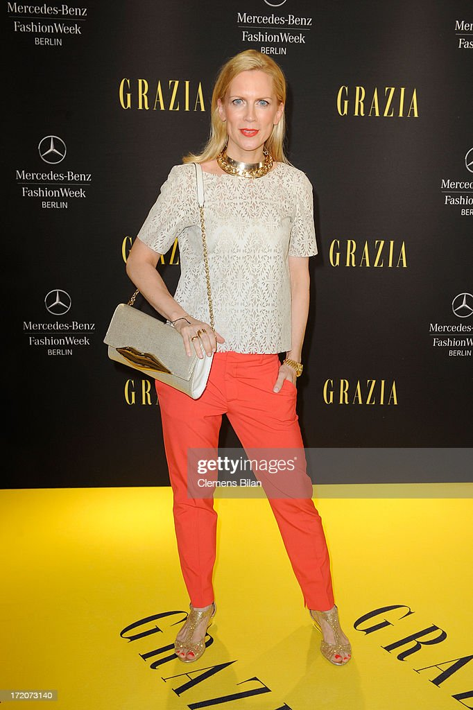 Tamara Graefin von Nayhauss attends the Mercedes-Benz Fashion Week Berlin Spring/Summer 2014 Preview Show by Grazia at the Brandenburg Gate on July 1, 2013 in Berlin, Germany.