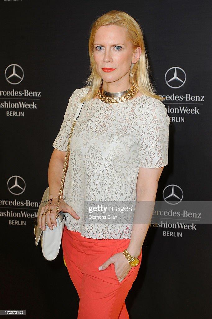 Tamara Graefin von Nayhauss attends the Mercedes-Benz Fashion Week Berlin Spring/Summer 2014 Preview Show by Grazia at the Brandenburg Gate on July 1, 2013 in Berlin, Germany.